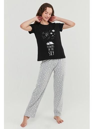 Penti Kadın Çok Renkli Flower Sky Pantolon Pijama Takım PNGE79FL21IY Renkli